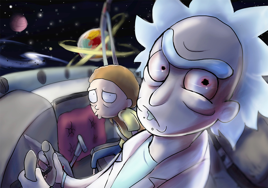 Rick and Morty Spaceship